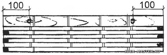 Самодельный коврик-штора из тростника