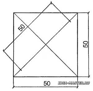 Разметка образца (плитки) для определения воздушной и огневой усадок глины