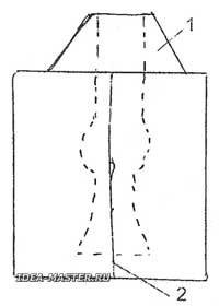 Гипсовая воронка для заливки гипса в форму