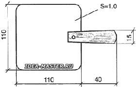 Стальная крышка с деревянной ручкой