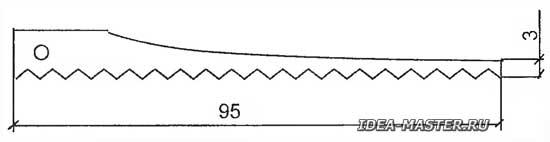 Пилка электролобзика из ножовочного полотна