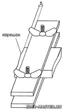 Блок (стопка листов), зажатый между двух досок