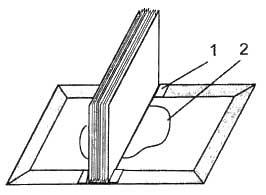 Вклейка блока (стопки листов) в обложку