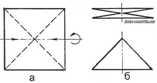 Как сделать треугольник из бумаги квадрат