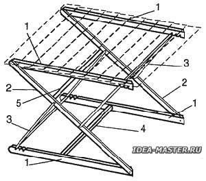 Каркас столика-трансформера