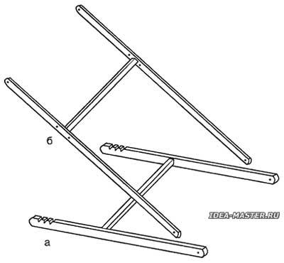 Опорные конструкции столика