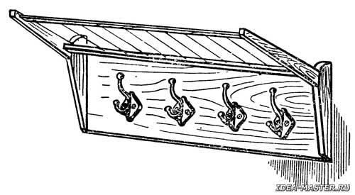 Рис 1 самодельная вешалка для верхней