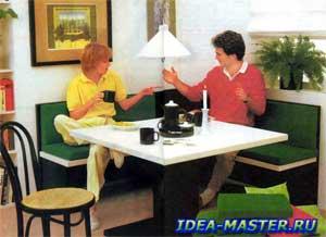 Как сделать кухонный уголок своими руками. Самодельный угловой диван