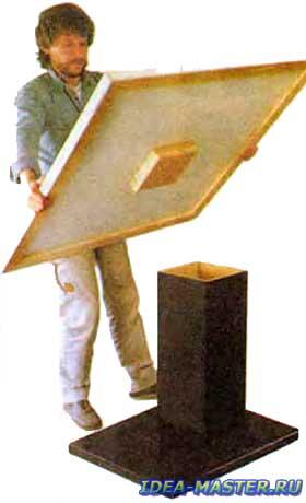 Стол собирают после отделки всех его элементов