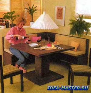 Спокойный вариант отделки кухонного уголка