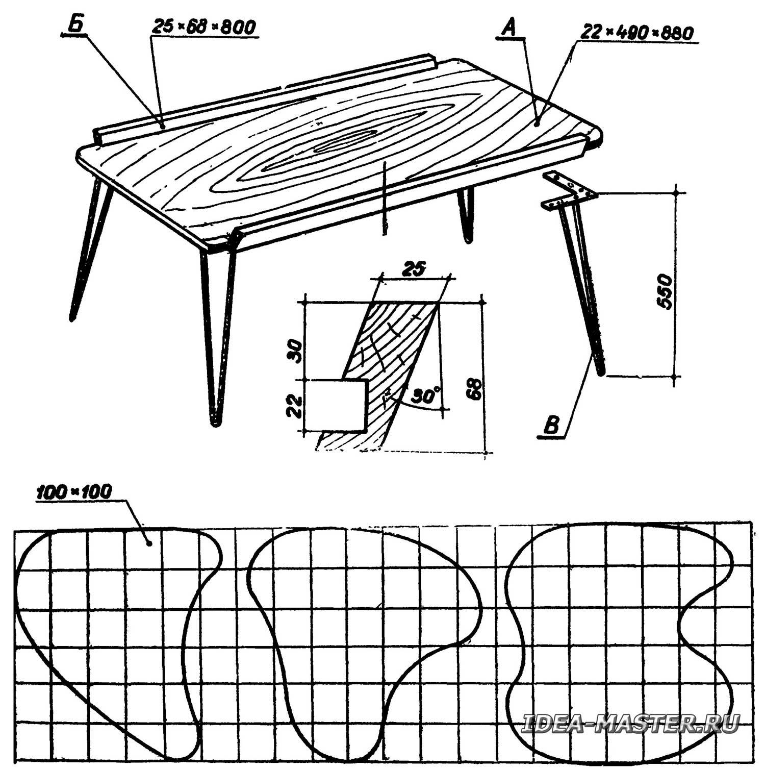 Складной стол своими руками 1000 фото, чертежи, инструкции 11
