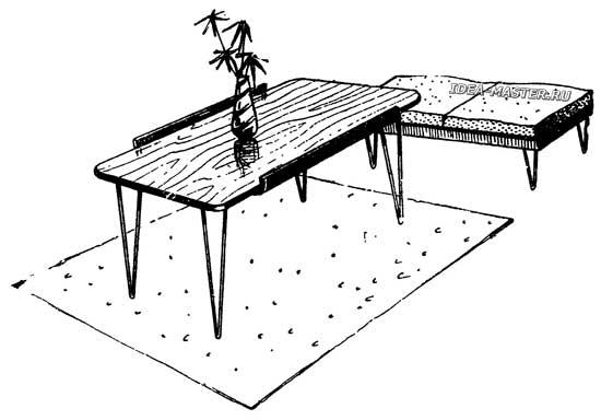 Складной журнальный столик своими руками
